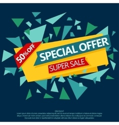 Sale special offer paper banner vector image