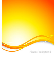 Abstract orange background vector image vector image