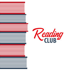 banner reading club stack of books vector image
