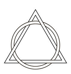 circle weave triangle tattoo vector image vector image