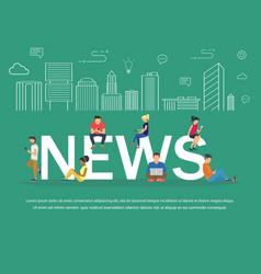 news banner design concept vector image