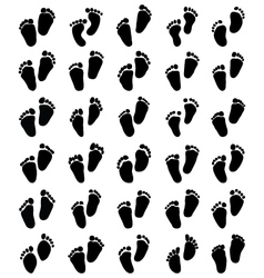 prints of baby feet vector image