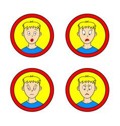 set of comic boy vector image vector image