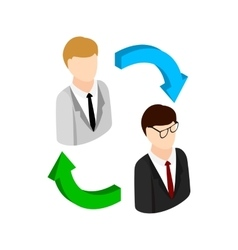 Staff turnover concept icon isometric 3d style vector image vector image