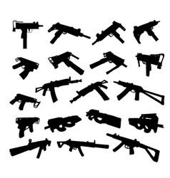 Submachine guns vector