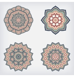 set decorative pattern set of circular vector image vector image