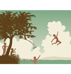 Summer boys vector image vector image