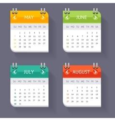 Calendar Quarter Month Set vector image