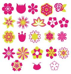 Flower Symbols icon set- vector image vector image