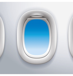 Airplane windowstravel vector