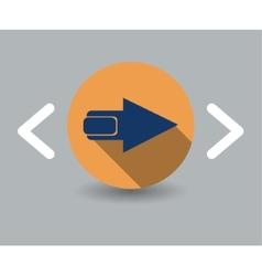 arrow icon vector image