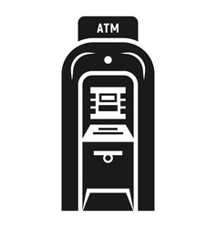 atm icon simple style vector image