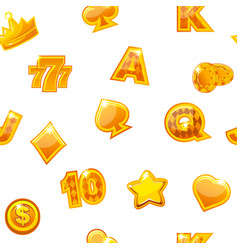 background with gold casino vector image