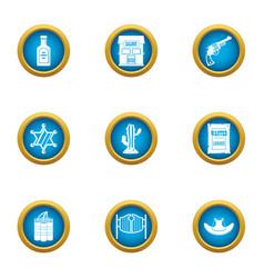 bailiff icons set flat style vector image