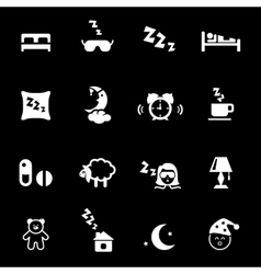 Bed time icons vector image