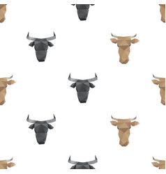 Bull head triangle pattern backgrounds vector