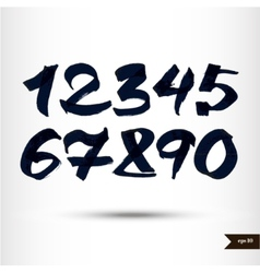 Calligraphic watercolor numbers vector