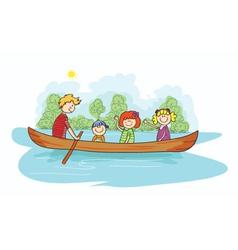Cartoon family background vector