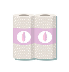 Cartoon kitchen paper towel vector