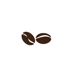coffee beans logo template vector image
