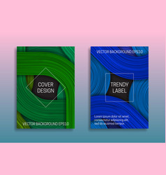 Cover templates with volumetric strokes trendy vector