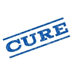 Cure Watermark Stamp vector