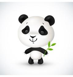 Cute little panda vector