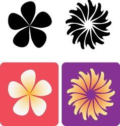 Decorative flowers 2 vector image