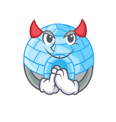 Devil igloo ice house isolated on mascot vector