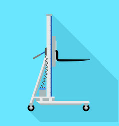 electric lift cart icon flat style vector image