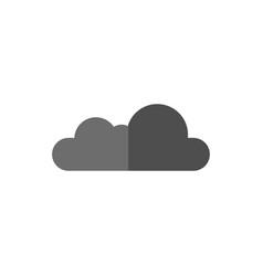 Flat dark grey cloud isolated on vector