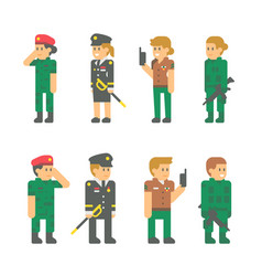 flat design soldier uniforms vector image