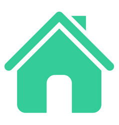 Flat home icon house sign web internet button vector