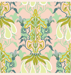 floral seamless pattern in art nouveau vector image