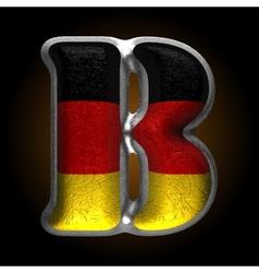 Germany metal figure b vector