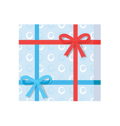 gift box present wrapped package icon top vector image