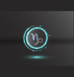 glowing zodiac symbol vector image