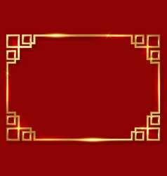 golden frame clipart 3d china pattern border vector image