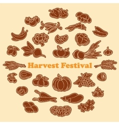Harvest festival stickers set vector image