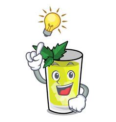 Have an idea mint julep mascot cartoon vector