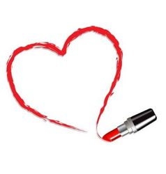 Heart drawn with red lipstick vector