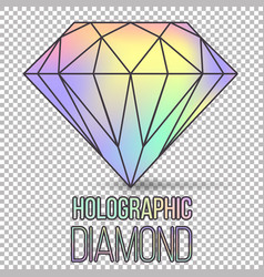 Holographic diamond stone isolated vector