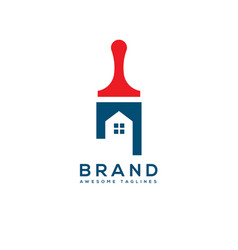 home real estate painting service logo concept vector image