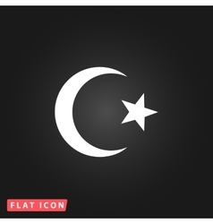 Islam flat icon vector