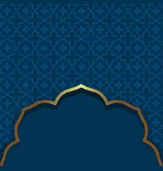 Islamic style dark blue background arabic vector