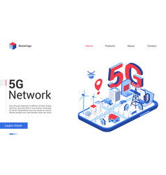 Isometric 5g network modern vector