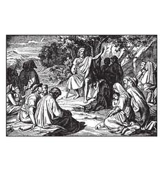 John baptist preaches in wilderness vector