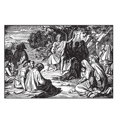 John the baptist preaches in the wilderness vector