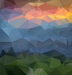 landscapce mountains polygonal triangular pattern vector image
