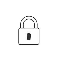 lock key line icon simple modern flat for mobile vector image